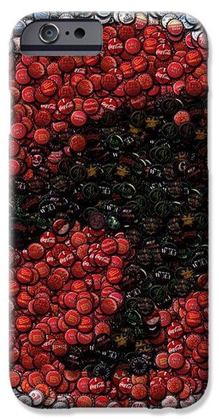 Thundercats Bottle Cap Mosaic iPhone Case by Paul Van Scott