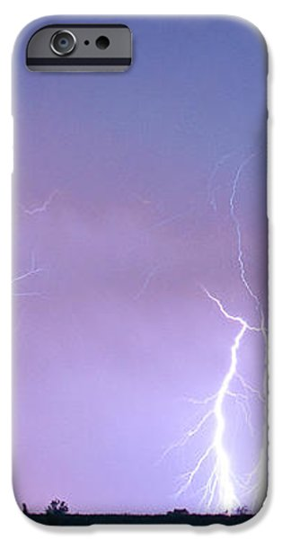 Thunderstorm on the Colorado Plains Panorama iPhone Case by James BO  Insogna
