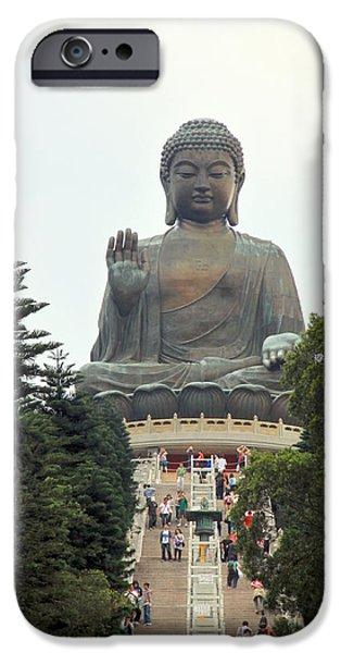 Tian Tan Buddha iPhone Case by Valentino Visentini