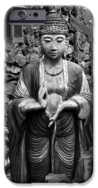 Tibetan Buddhism iPhone Cases - Tibetan Buddha iPhone Case by Karon Melillo DeVega