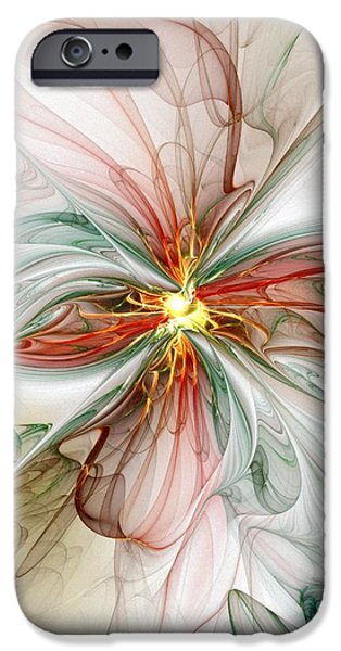 Best Sellers -  - Floral Digital Art Digital Art iPhone Cases - Tiger Lily iPhone Case by Amanda Moore