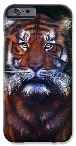 Tiger Tiger iPhone Case by Michelle Wrighton