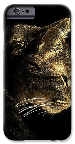 Photos Of Cats iPhone Cases - Tiger Within iPhone Case by Dale   Ford