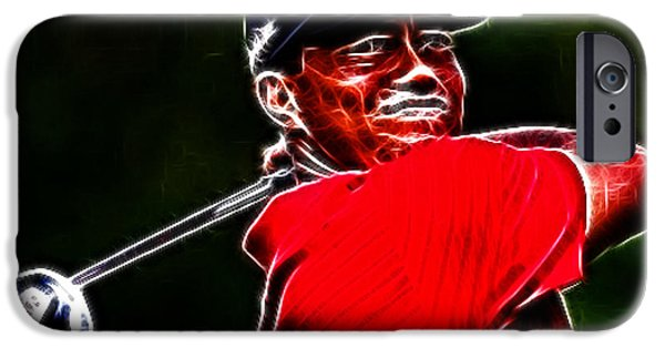 The Tiger iPhone Cases - Tiger Woods iPhone Case by Paul Ward