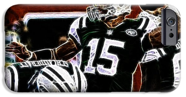 Tebow iPhone Cases - Tim Tebow  -  NY Jets Quarterback iPhone Case by Paul Ward