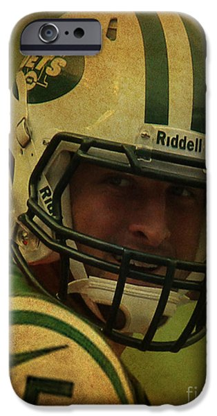 Tebow iPhone Cases - Tim Tebow - New York Jets - Timothy Richard Tebow iPhone Case by Lee Dos Santos