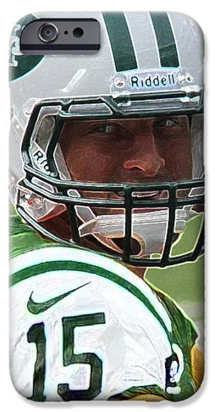 Tebow iPhone Cases - Tim Tebow Art Deco - New York Jets -  iPhone Case by Lee Dos Santos