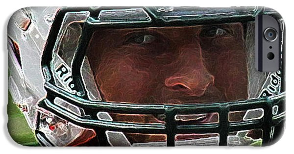 Tebow iPhone Cases - Tim Tebow Art Deco Close-up - New York Jets -  iPhone Case by Lee Dos Santos