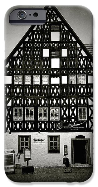 Timber-frame house Weimar iPhone Case by Christine Till