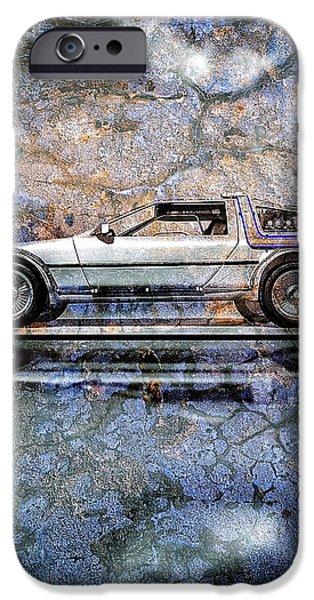 Time Machine or The retrofitted DeLorean DMC-12 iPhone Case by Bob Orsillo