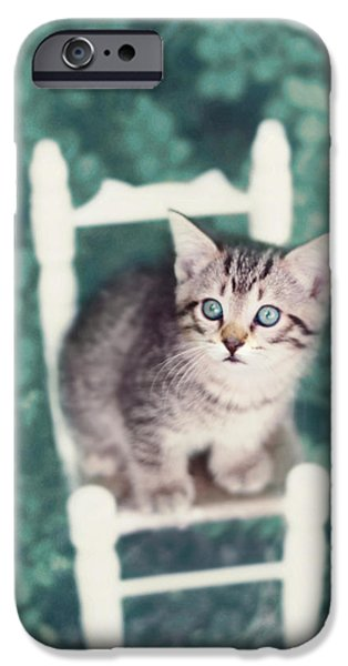 Little Girl iPhone Cases - Time Out iPhone Case by Amy Tyler