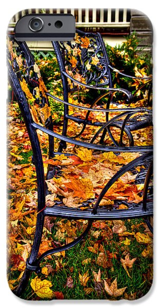 Lawn Chair iPhone Cases - Time to Rake iPhone Case by David Patterson