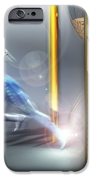 Time Travel, Conceptual Artwork iPhone Case by Laguna Design