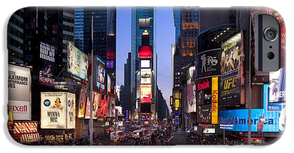 42nd Street iPhone Cases - Times Square iPhone Case by Brian Jannsen