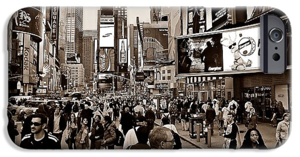 42nd Street iPhone Cases - Times Square New York S iPhone Case by David Dehner