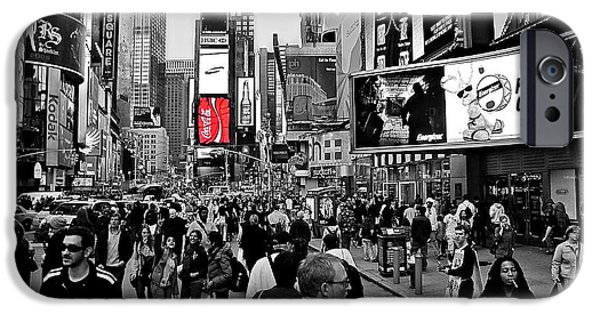 42nd Street iPhone Cases - Times Square New York TOC iPhone Case by David Dehner