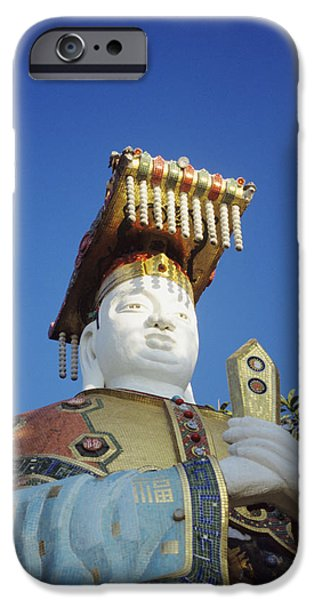 Repulse iPhone Cases - Tin Hua Temple colorful statue iPhone Case by Gloria and Richard Maschmeyer - Printscapes
