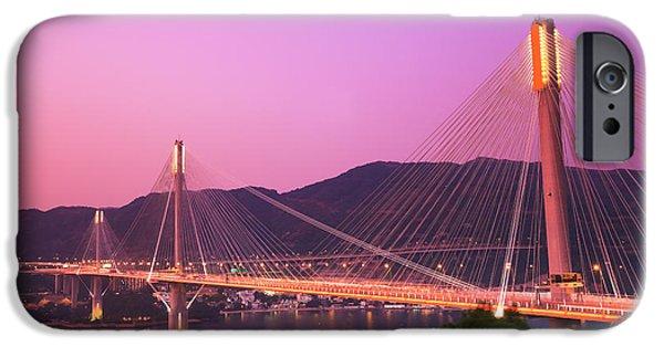 Island Stays iPhone Cases - Ting Kau Bridge iPhone Case by MotHaiBaPhoto Prints