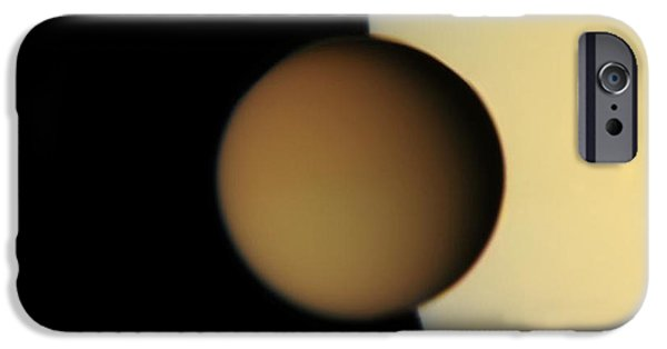 21st Century iPhone Cases - Titan from Cassini iPhone Case by Photo Researchers