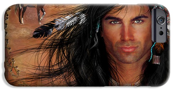 Book Cover Art iPhone Cases - To Love A Warrior iPhone Case by Carol Cavalaris