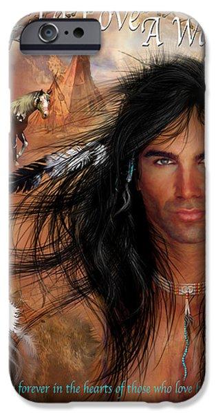 To Love A Warrior iPhone Case by Carol Cavalaris