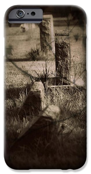 Grave Yard iPhone Cases - To the Grave iPhone Case by Mandy Shupp