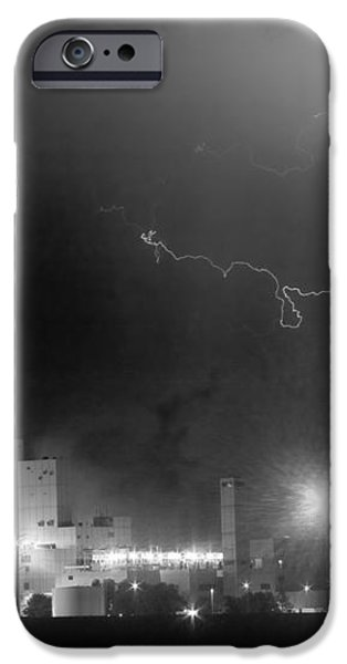 To The Right Budweiser Lightning Strike BW iPhone Case by James BO  Insogna