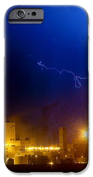 To The Right Budweiser Lightning Strike iPhone Case by James BO  Insogna