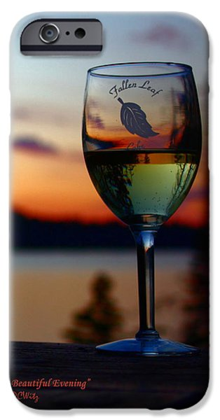 Toasting a Beautiful Evening iPhone Case by Patrick Witz