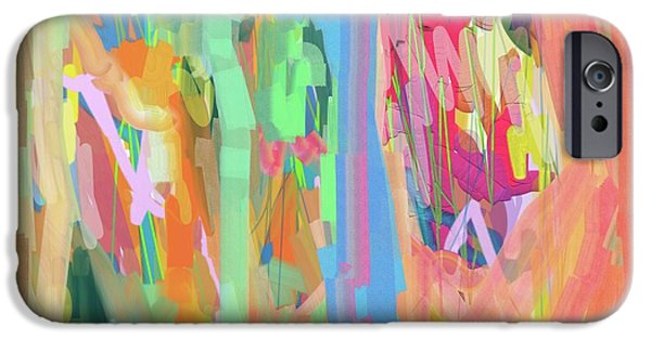Unity Paintings iPhone Cases - Together as One iPhone Case by Naomi Susan Schwartz Jacobs