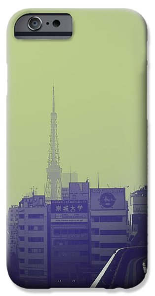 Architecture Digital iPhone Cases - Tokyo City Ride iPhone Case by Naxart Studio