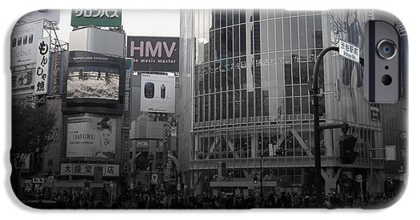 History iPhone Cases - Tokyo Intersection 1 iPhone Case by Naxart Studio