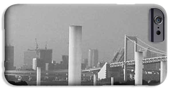 Tokyo iPhone Cases - Tokyo Panorama iPhone Case by Naxart Studio