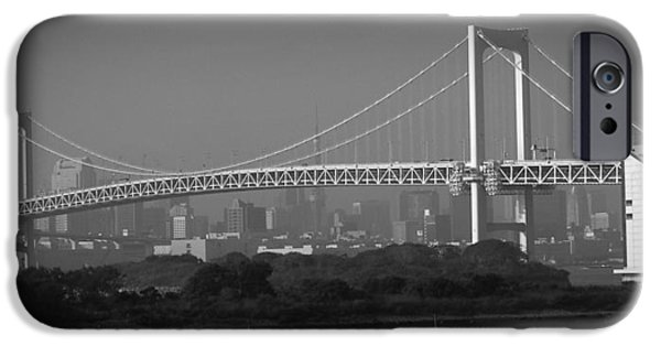 History iPhone Cases - Tokyo Rainbow Bridge iPhone Case by Naxart Studio