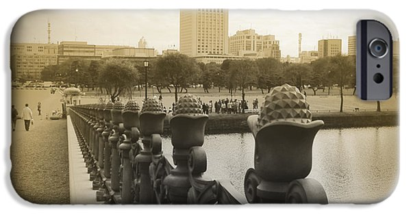 History iPhone Cases - Tokyo Square iPhone Case by Naxart Studio