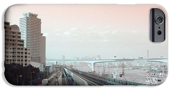 Metropolis iPhone Cases - Tokyo Train Ride 3 iPhone Case by Naxart Studio
