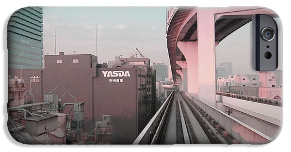Tokyo iPhone Cases - Tokyo Train Ride 5 iPhone Case by Naxart Studio