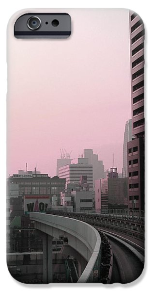 History iPhone Cases - Tokyo Train Ride 6 iPhone Case by Naxart Studio