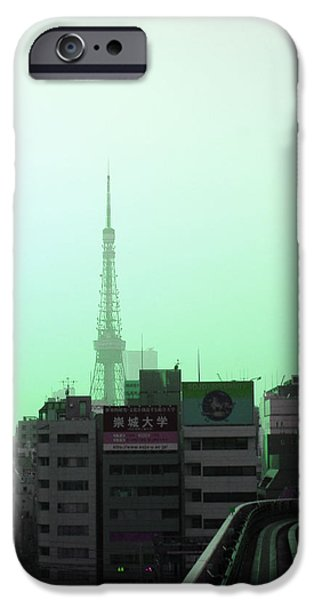 History iPhone Cases - Tokyo Train Ride 7 iPhone Case by Naxart Studio