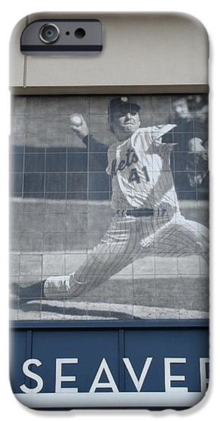 TOM SEAVER 41 iPhone Case by ROB HANS