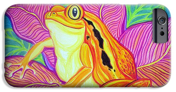 Frogs iPhone Cases - Tomatoe Frog iPhone Case by Nick Gustafson