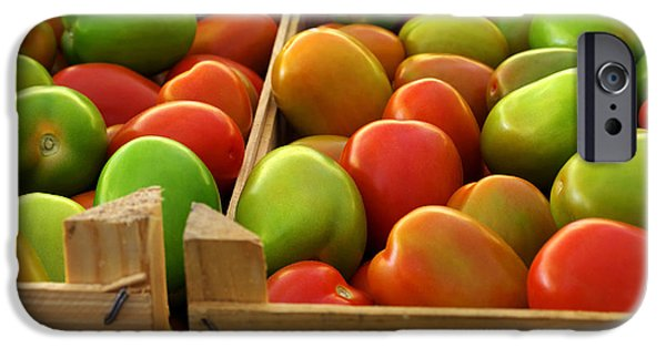 Agriculture iPhone Cases - Tomatoes iPhone Case by Carlos Caetano