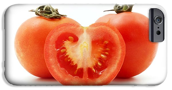 White Background iPhone Cases - Tomatoes iPhone Case by Fabrizio Troiani
