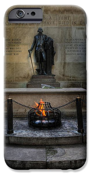 Tomb of the Unknown Revolutionary War Soldier - George Washington  iPhone Case by Lee Dos Santos
