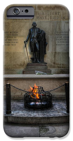 Tomb of the Unknown Revolutionary War Soldier II - George Washington  iPhone Case by Lee Dos Santos