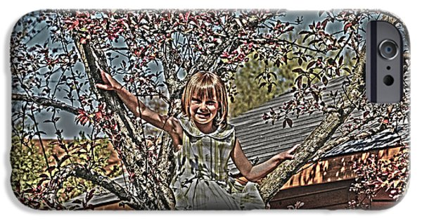 Tomboy iPhone Cases - Tomboy In The Tree iPhone Case by Randall Branham