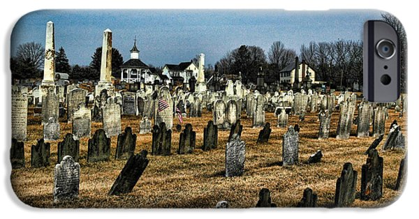 Final Resting Place Photographs iPhone Cases - Tombstones iPhone Case by Paul Ward
