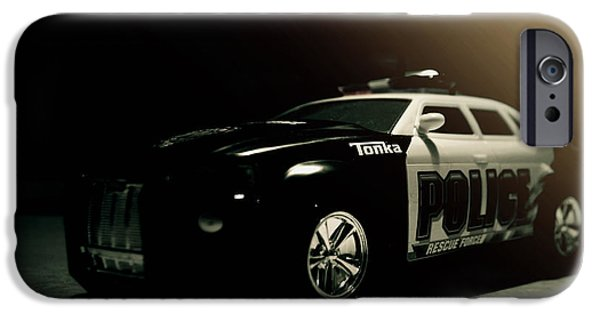 Police Car iPhone Cases - Tonka Tonka iPhone Case by Joel Witmeyer