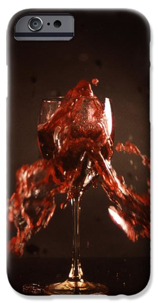 Too Much Wine iPhone Case by Skip Willits