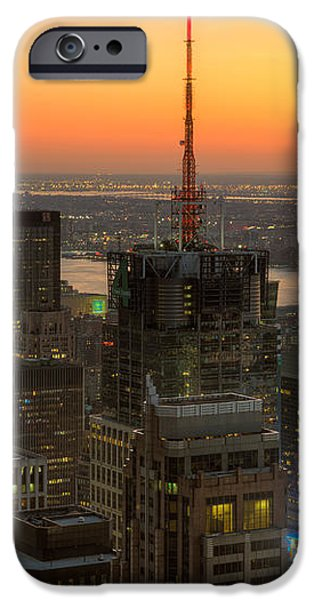 Top of the Rock Twilight IX iPhone Case by Clarence Holmes